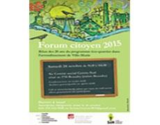 Forum citoyen 2015 : Bilan des 20 ans du programme éco-quartier!