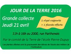 Grande collecte à l'école Pierre-Dupuy