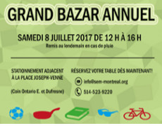 Grand bazar annuel!