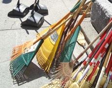 Activité de nettoyage dans le secteur du parc Sainte-Marie
