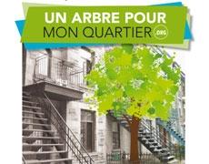 Campagne d'automne «Un arbre pour mon quartier»
