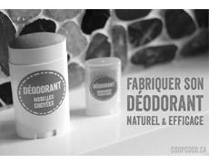 Venez apprendre à fabriquer votre propre déodorant!