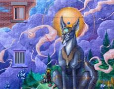 La Création, une nouvelle murale dans le quartier Sainte-Marie