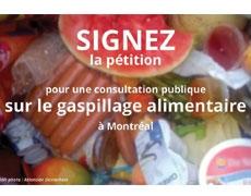 Pétition pour une consultation publique sur le gaspillage alimentaire