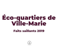 Éco-quartiers de Ville-Marie : faits saillants 2019!