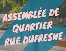 Assemblée de quartier pour la rue Dufresne avec Sophie Mauzerolle
